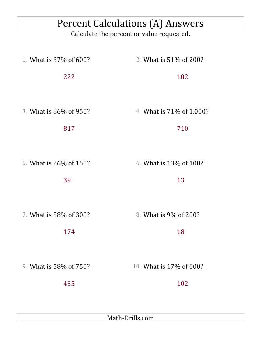 Percent Error Worksheet Answers