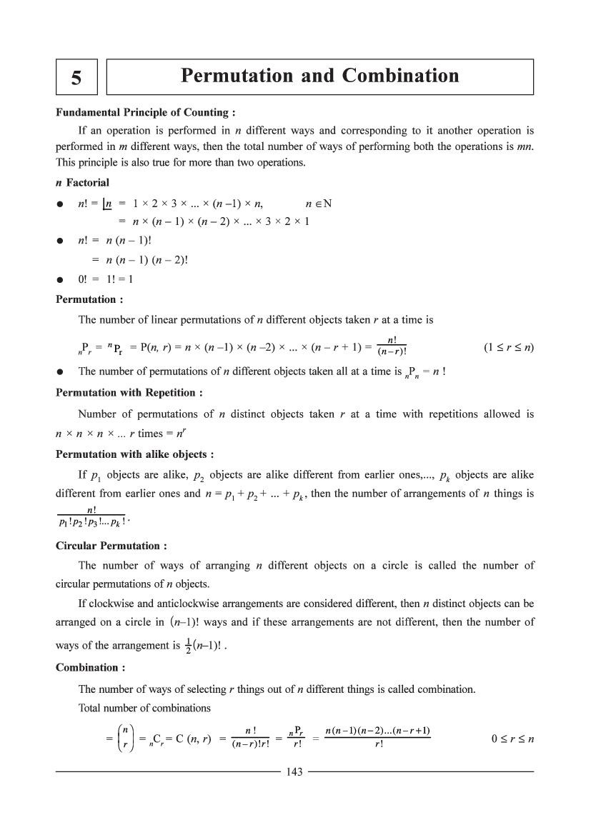 Permutations and Combinations Worksheet Answers