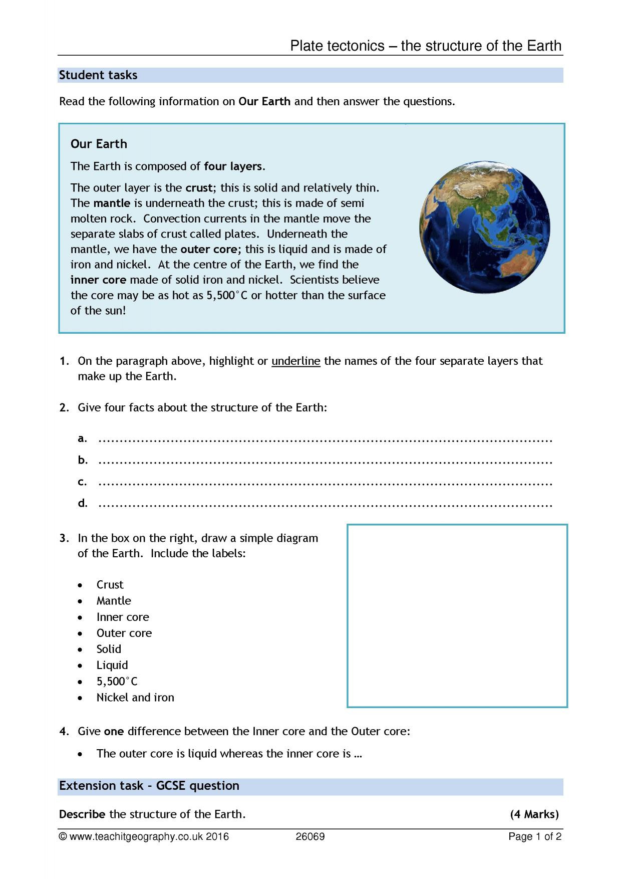 30 Plate Tectonics Worksheet Answer Key | Education Template
