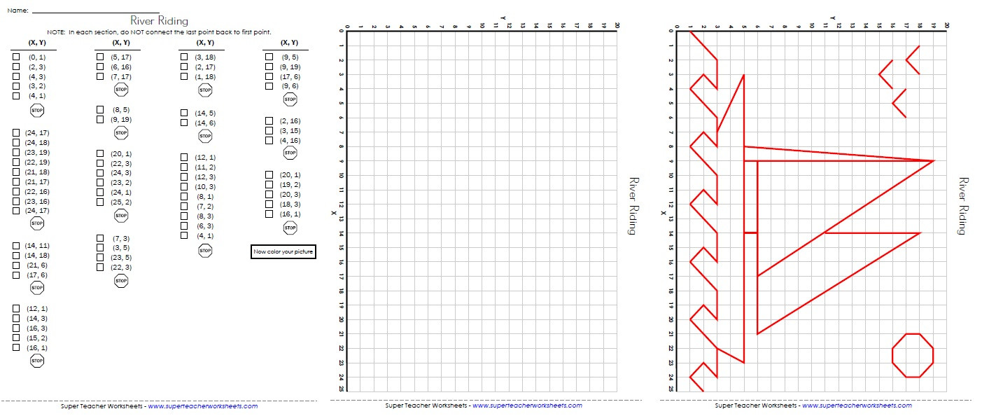 Plotting Points Worksheet Pdf
