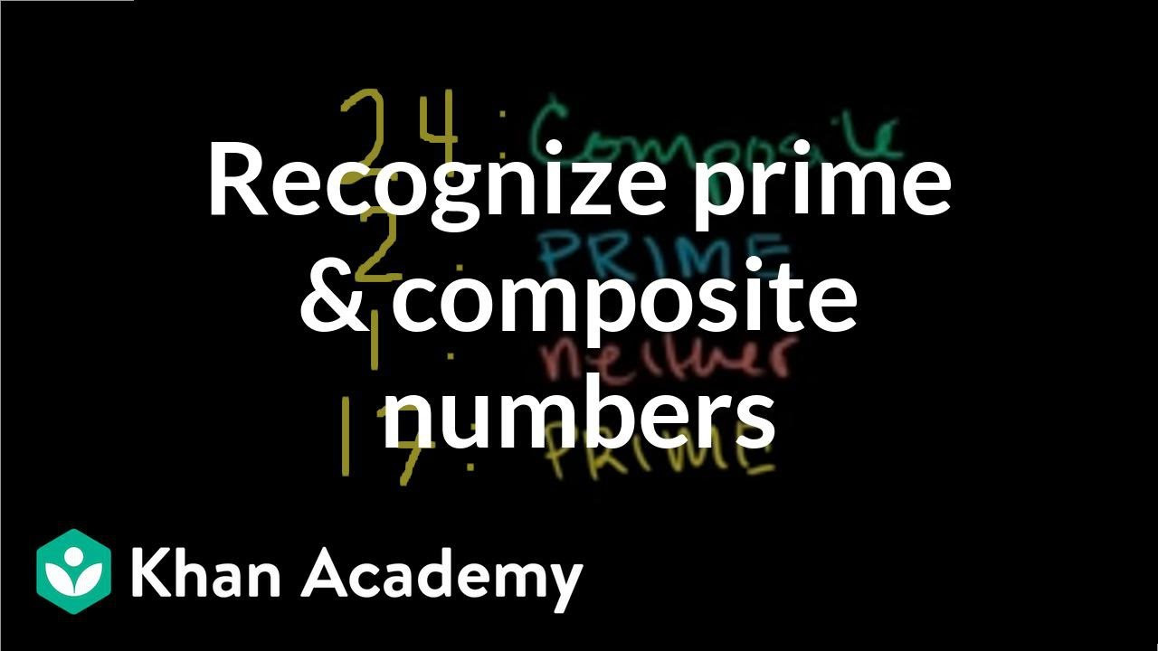 Prime and Composite Numbers Worksheet