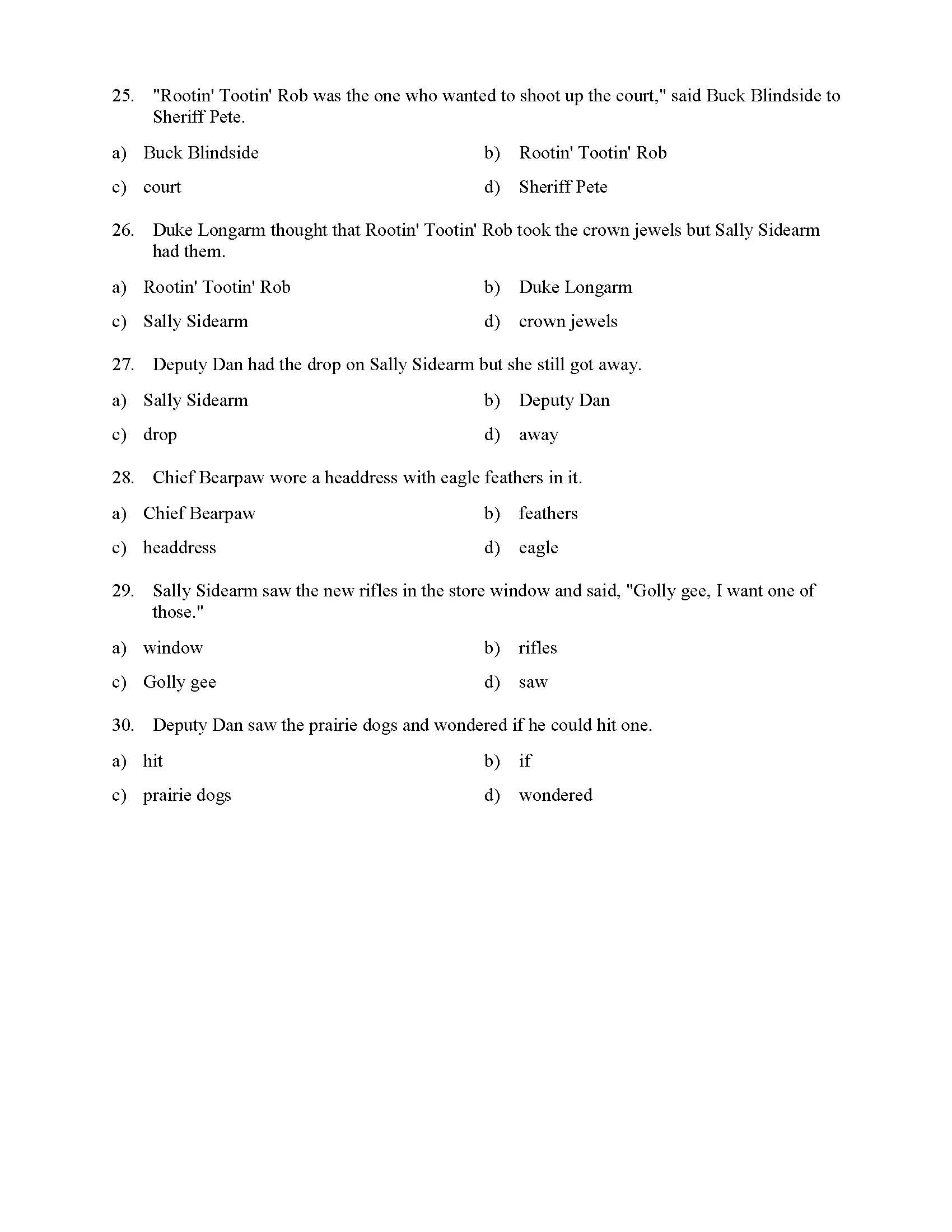 Pronouns and Antecedents Worksheet