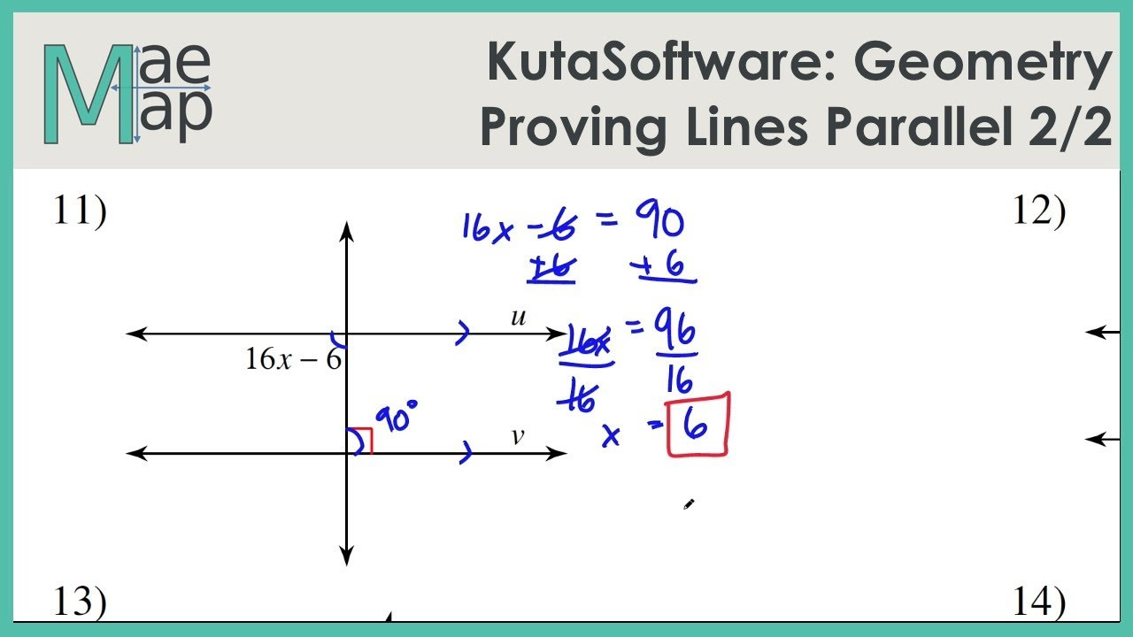 Proving Lines Parallel Worksheet Answers