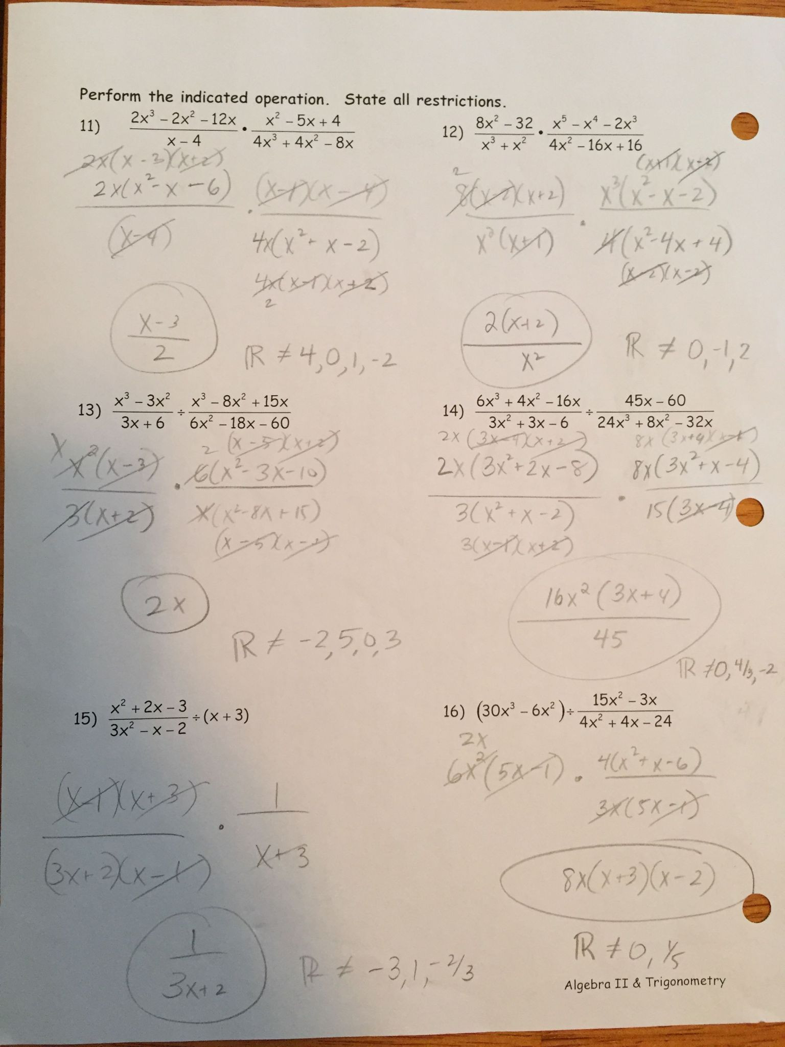 Rational Expressions Worksheet Answers