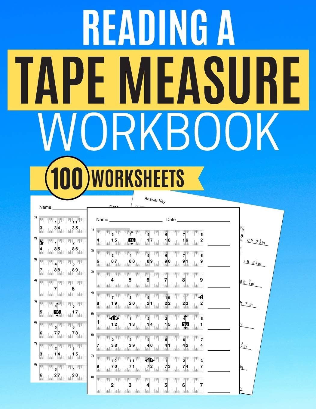 Reading A Tape Measure Worksheet