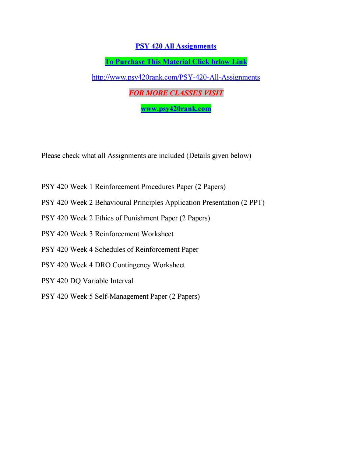 Schedules Of Reinforcement Worksheet