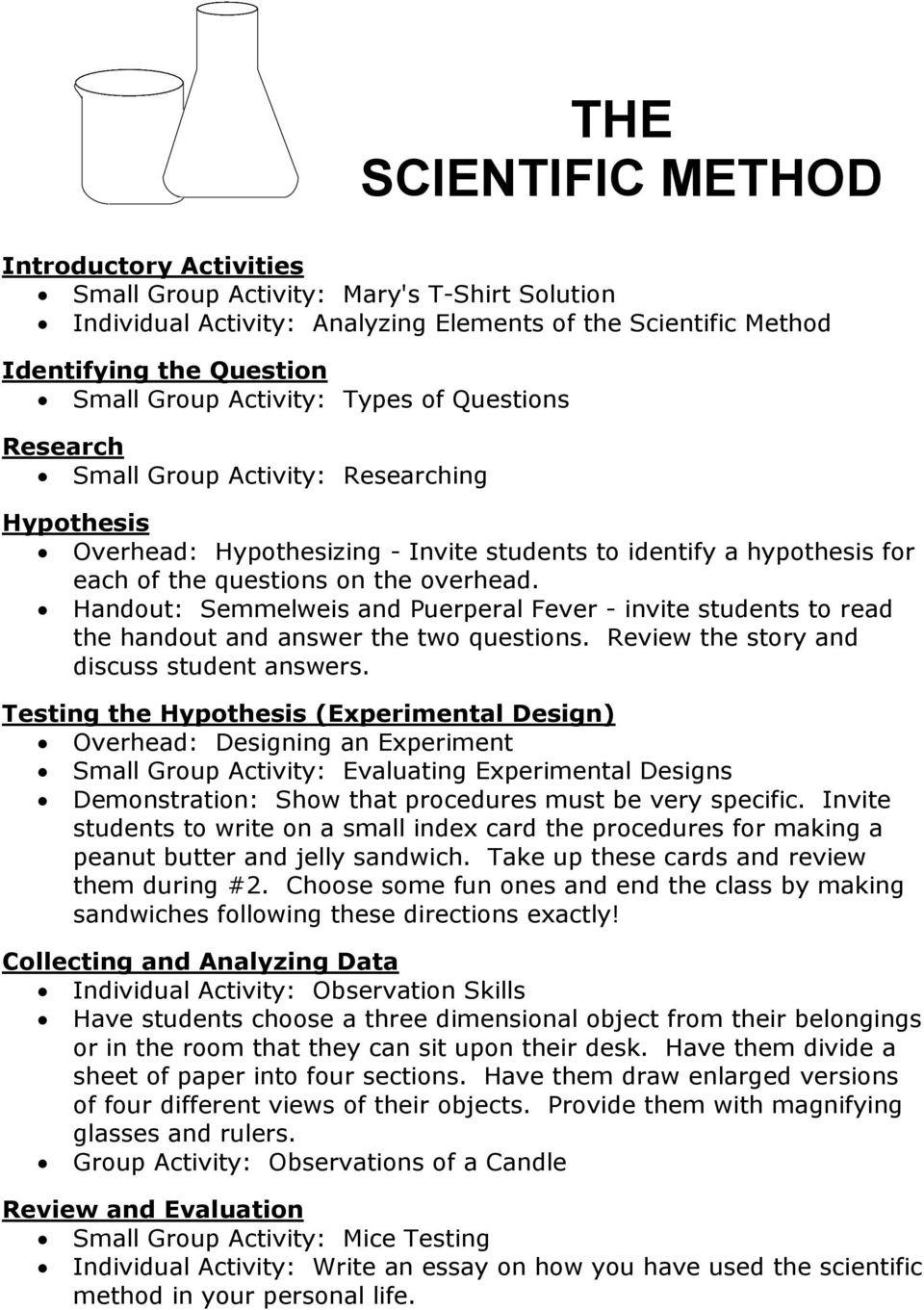Scientific Method Review Worksheet