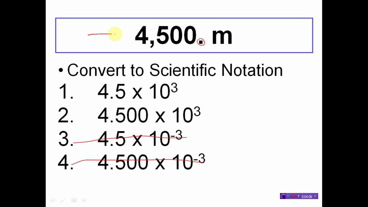 Scientific Notation Practice Worksheet
