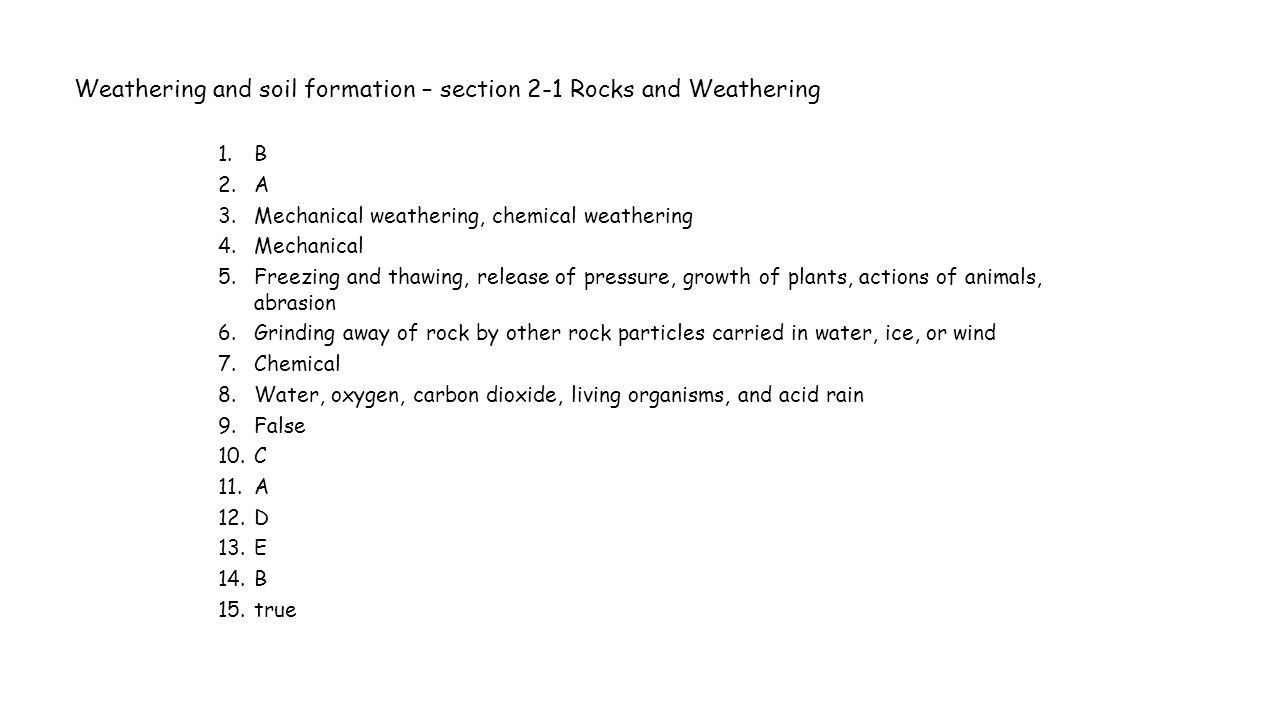 31 soil formation Worksheet Answers | Education Template