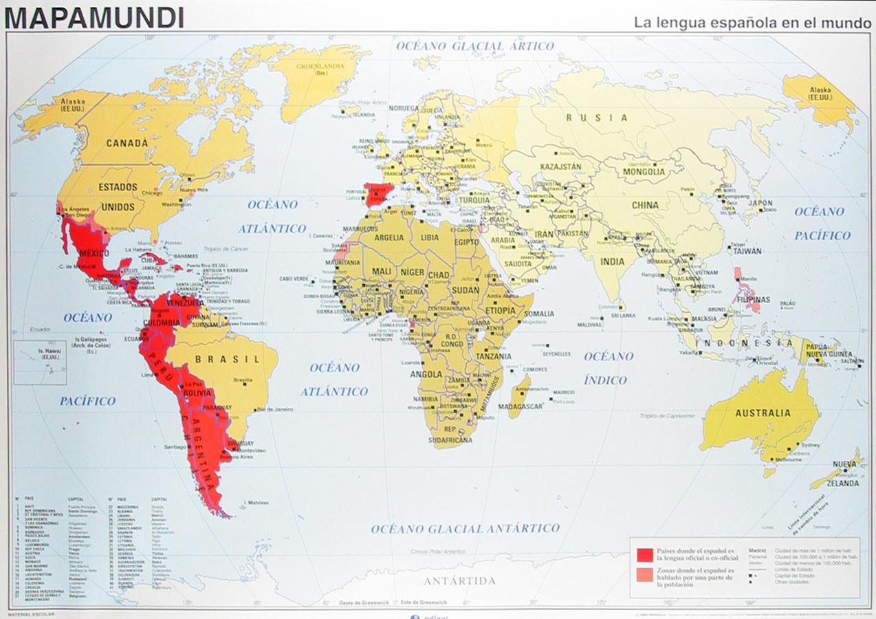 Spanish Speaking Countries Worksheet