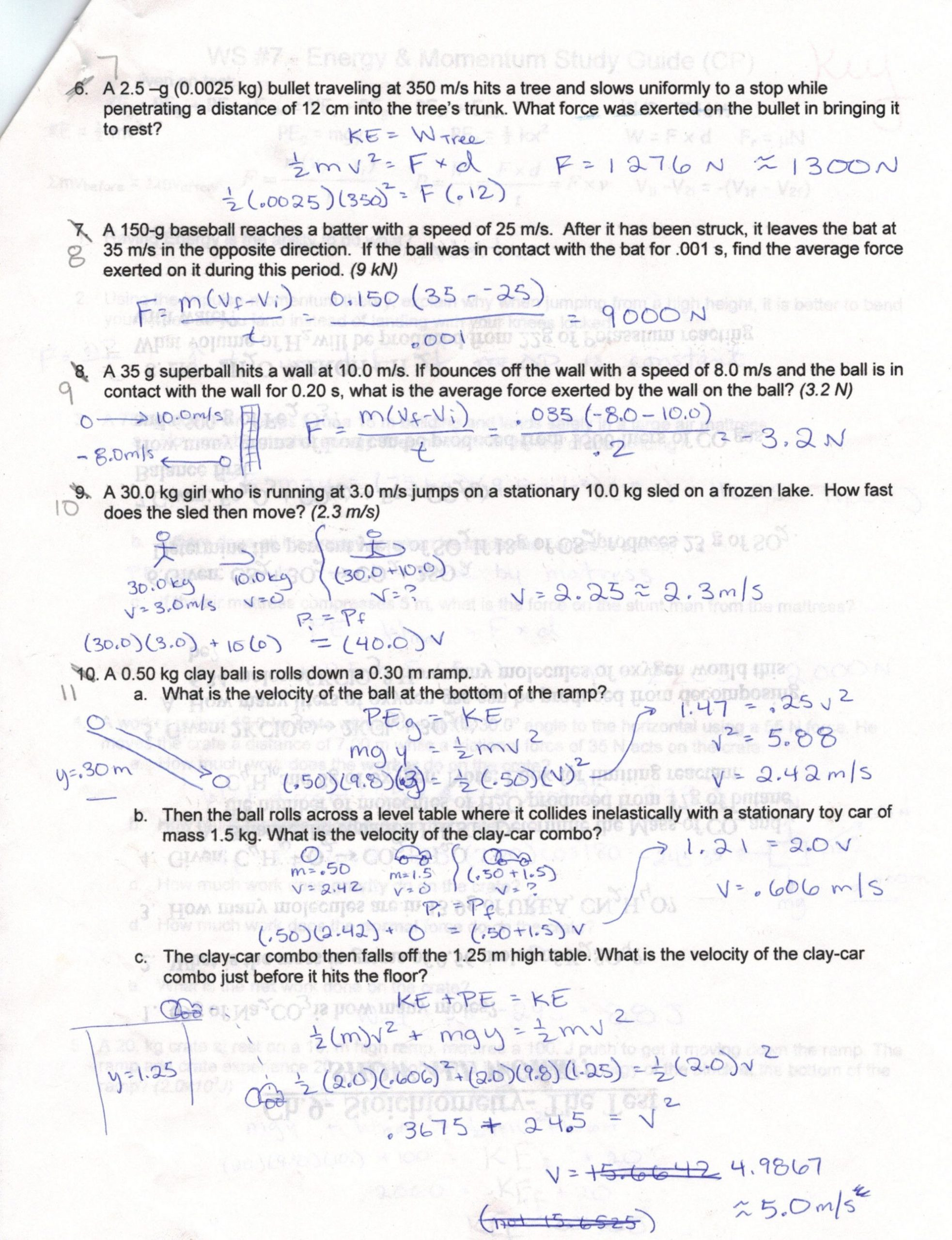 Speed and Velocity Worksheet Answers