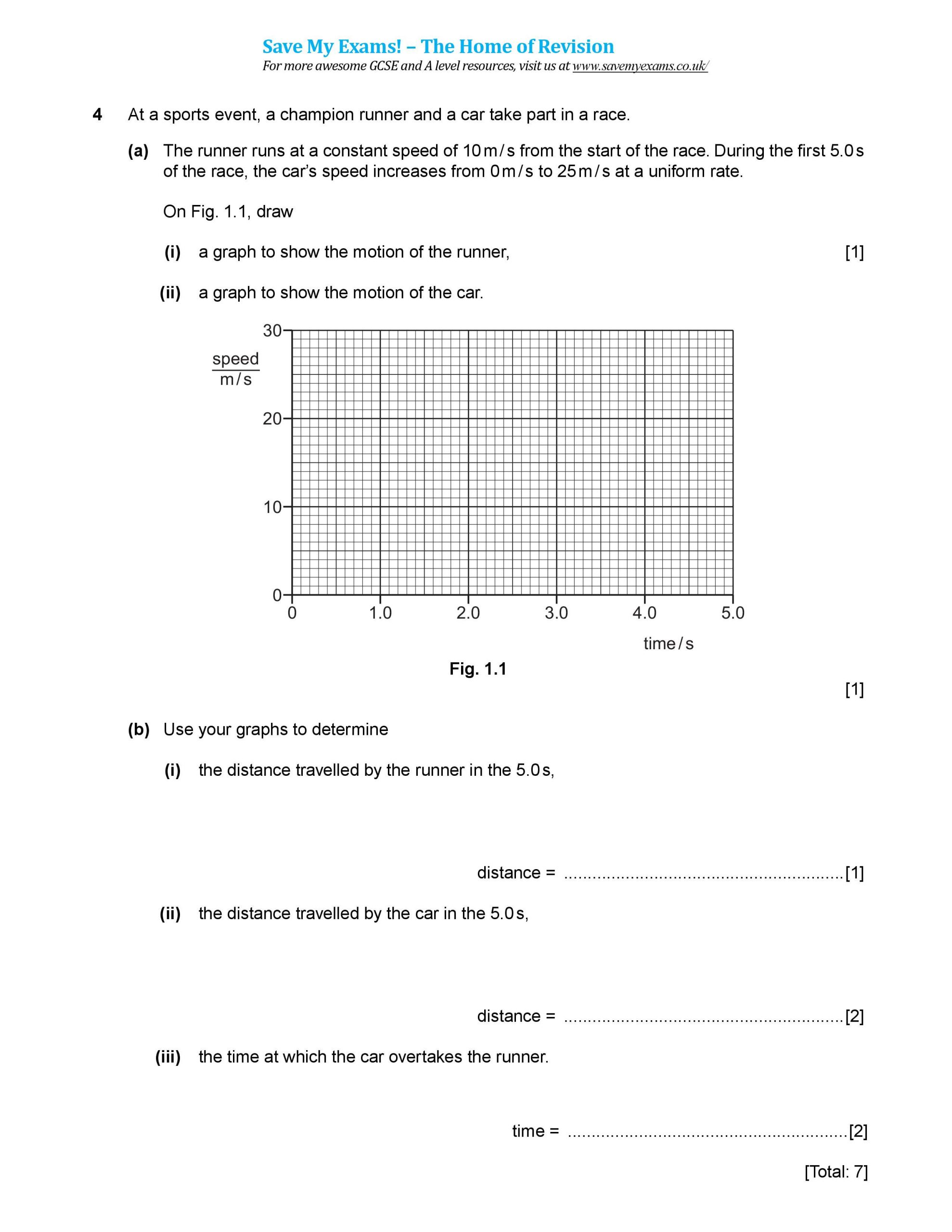 Speed Time and Distance Worksheet