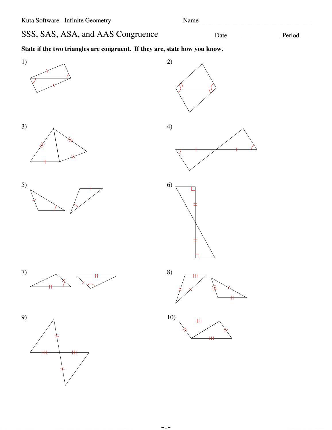 4 sss sas asa and aas congruence by HHS Geometry issuu