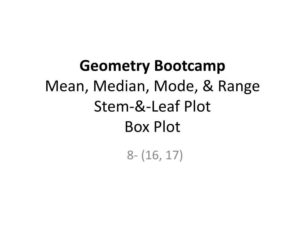 Stem and Leaf Plot Worksheet