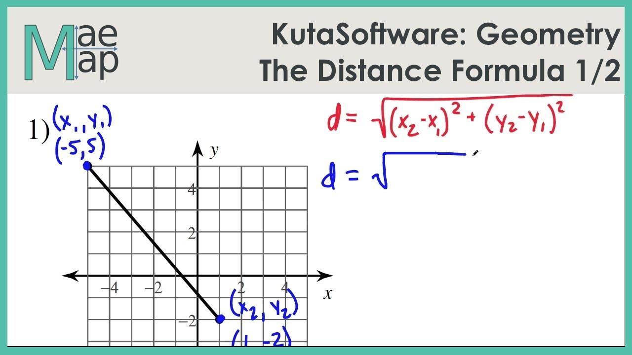 KutaSoftware Geometry The Distance Formula Part 1