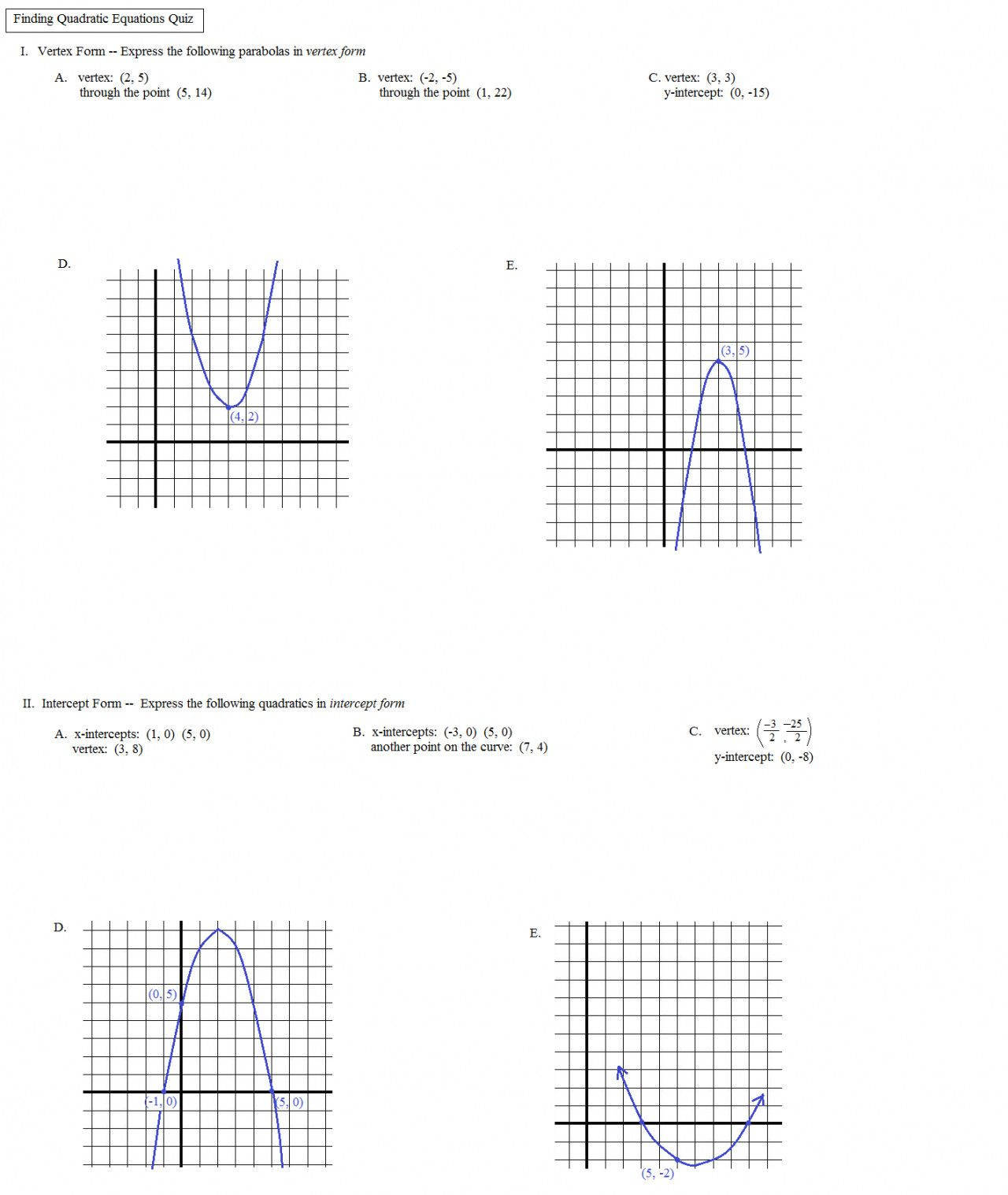 Transformations Of Graphs Worksheet