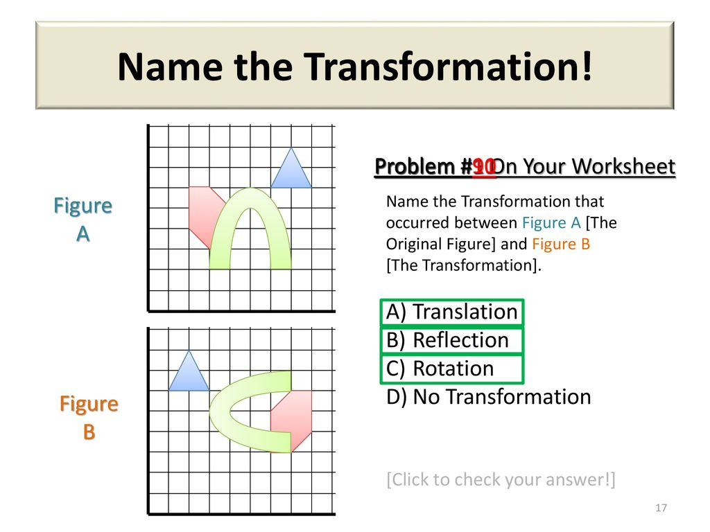 Translation Rotation Reflection Worksheet