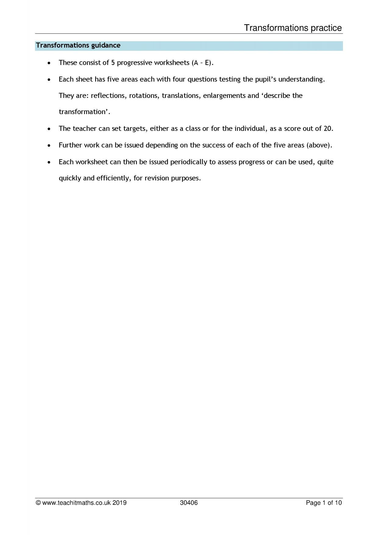 Translations Reflections and Rotations Worksheet