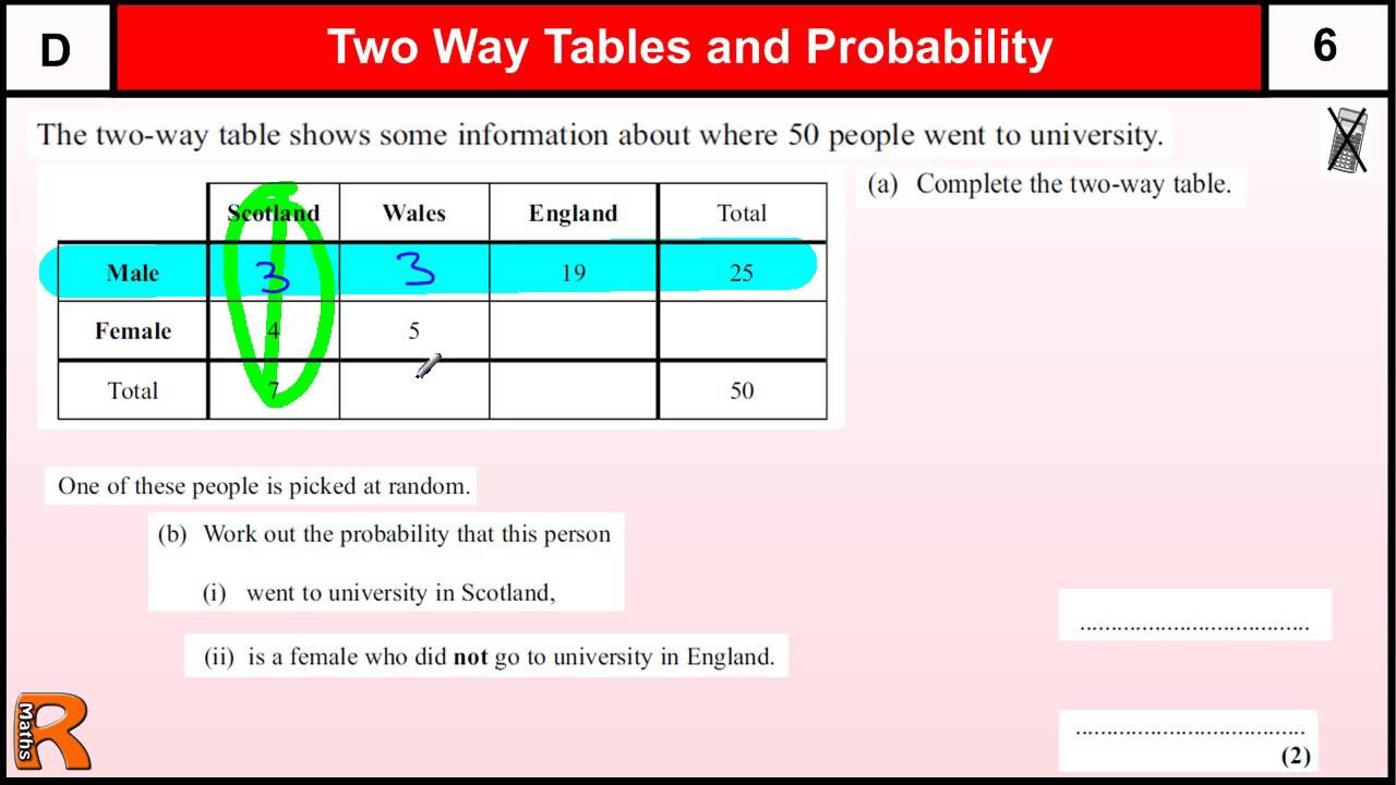 Two Way Frequency Tables Worksheet