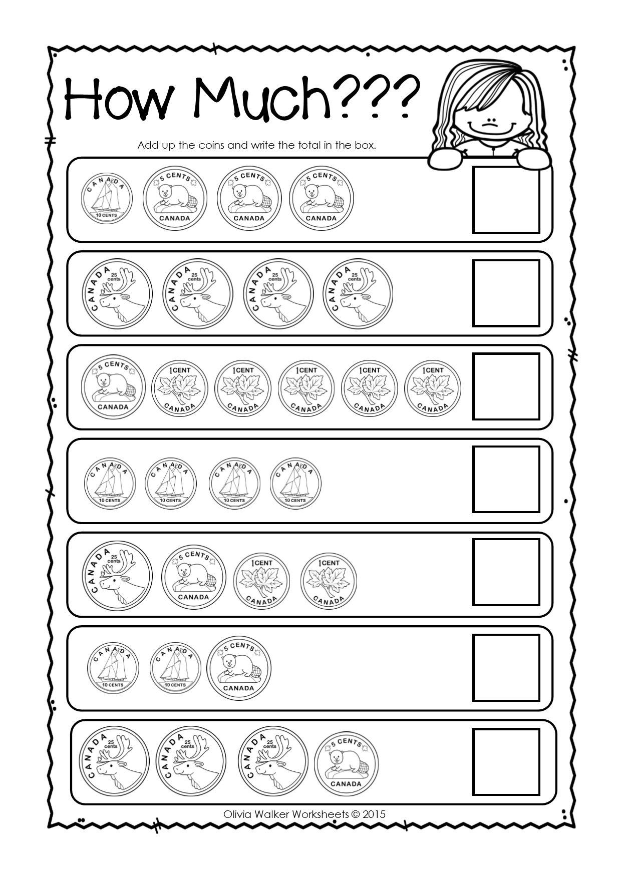 Values Of Coins Worksheet