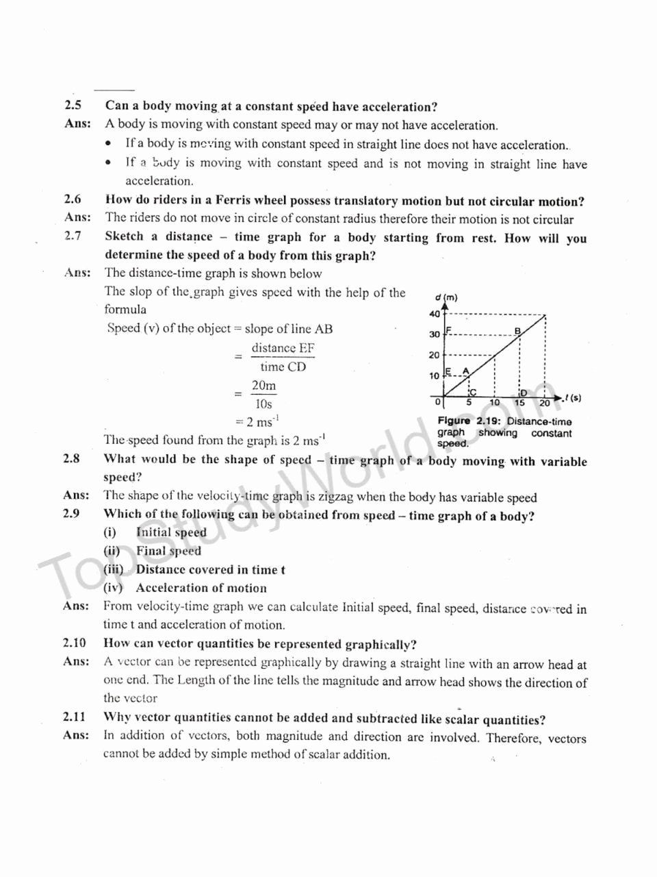 Velocity and Acceleration Calculation Worksheet