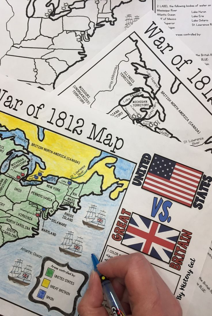 War Of 1812 Worksheet