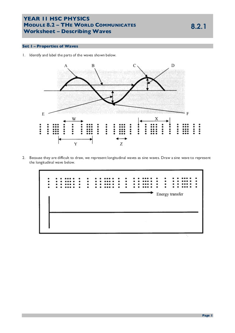 30 Wave Worksheet Answer Key | Education Template