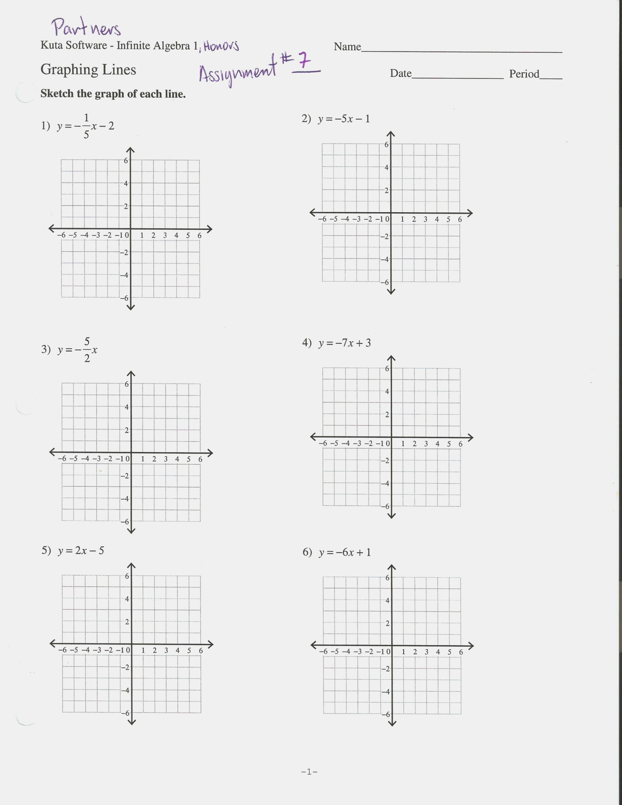 Writing Equations From Graphs Worksheet