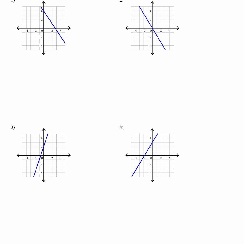 Writing Linear Equations Worksheet Answer