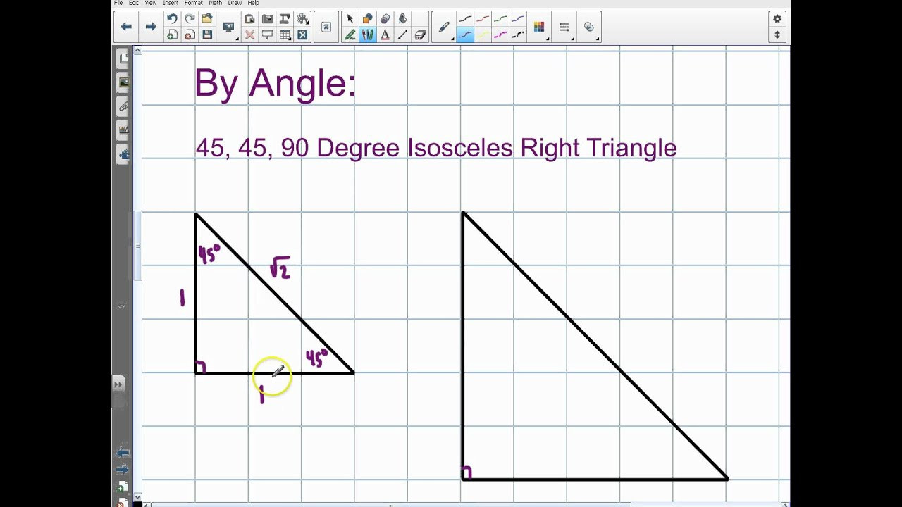 5 8 Special Right Triangles Worksheet