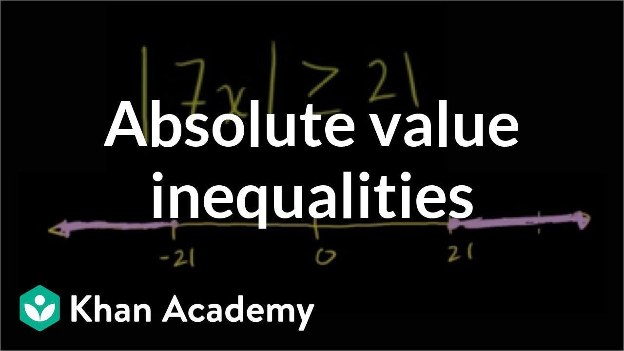 Absolute Value Inequalities Worksheet Answers