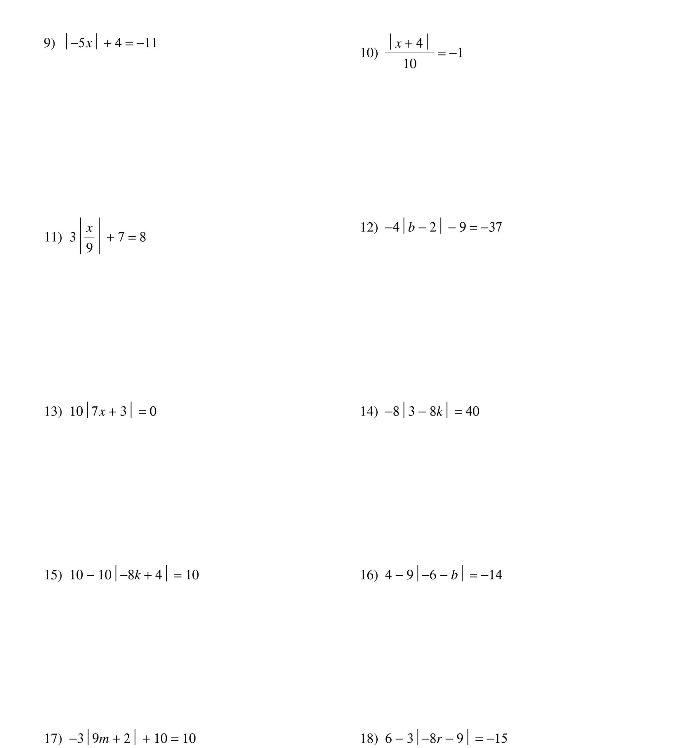 Adding and Subtracting Radicals Worksheet