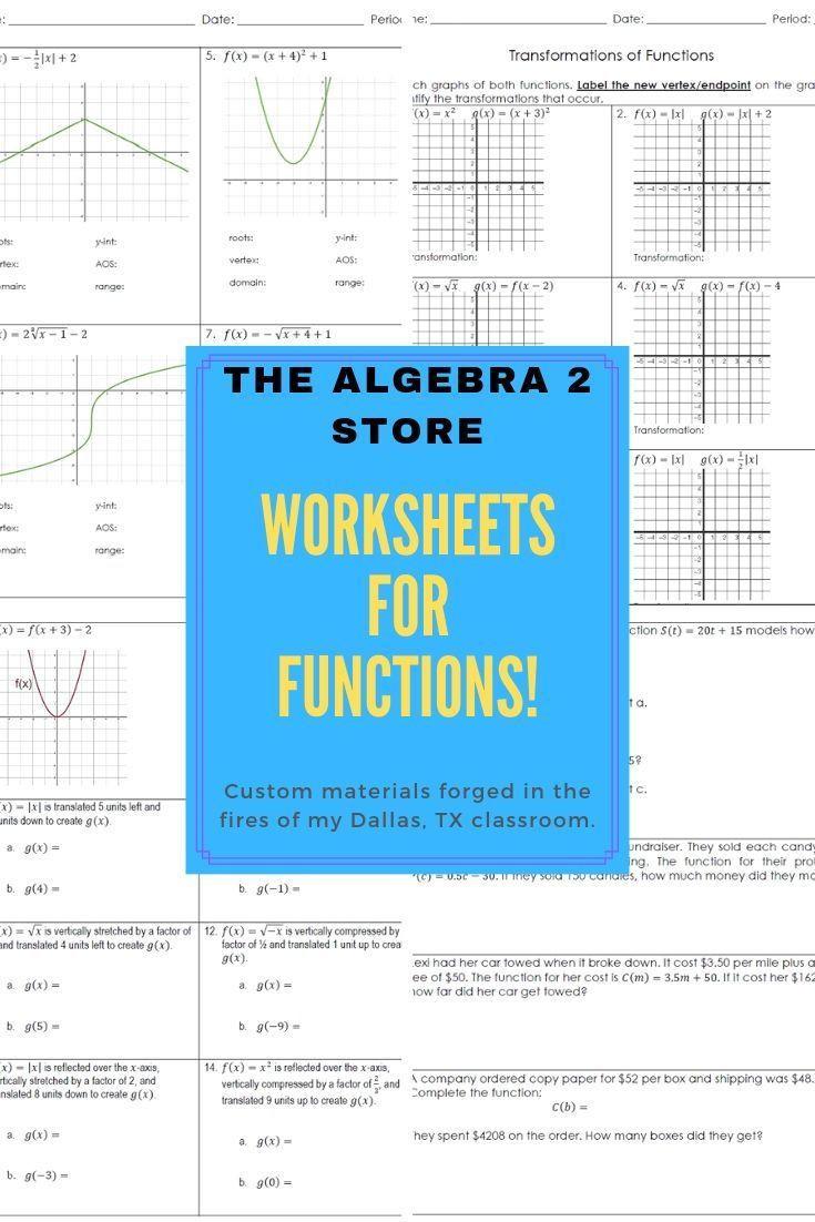 Algebra 1 Functions Worksheet