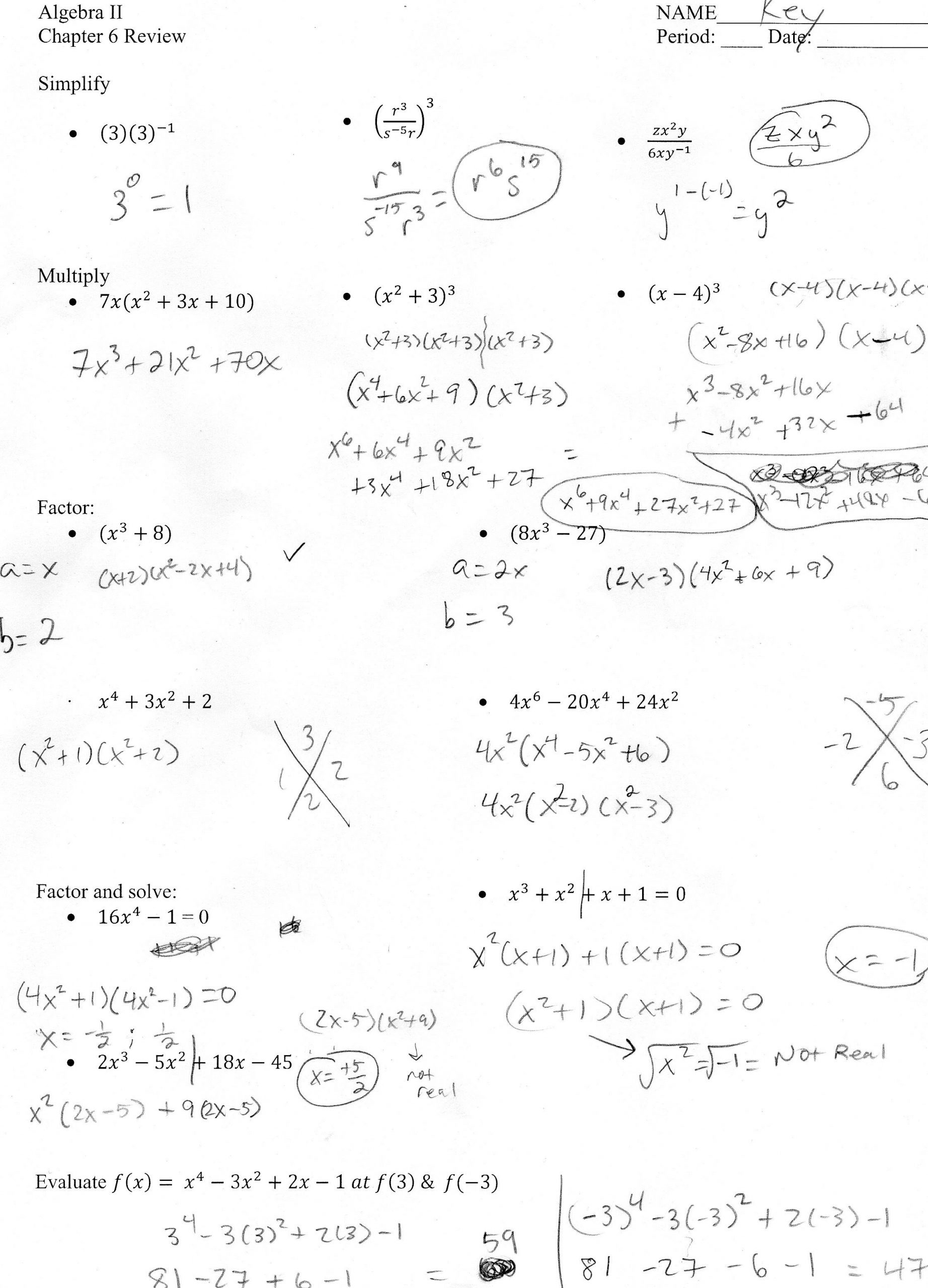 Algebra II Mr Shepherd s Pasture