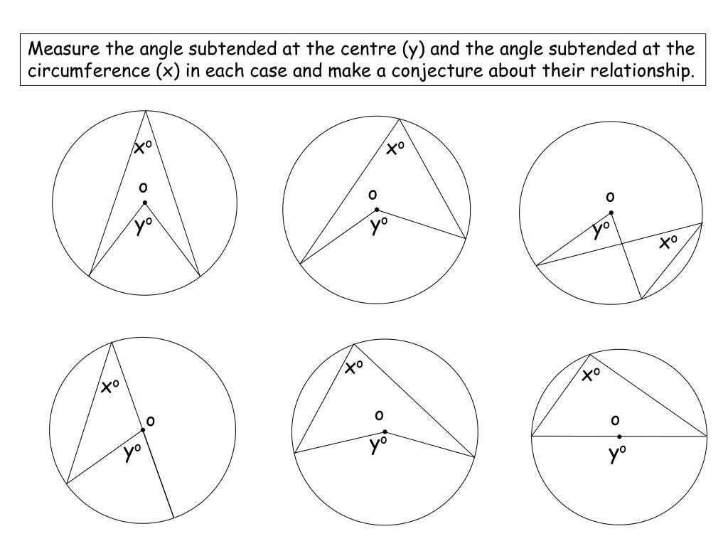 Angles In Circles Worksheet