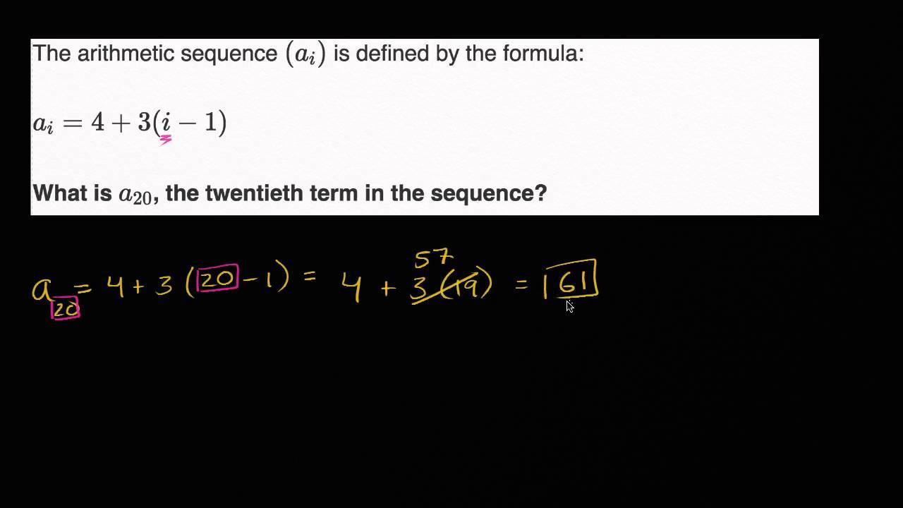 Arithmetic Sequence Worksheet Algebra 1