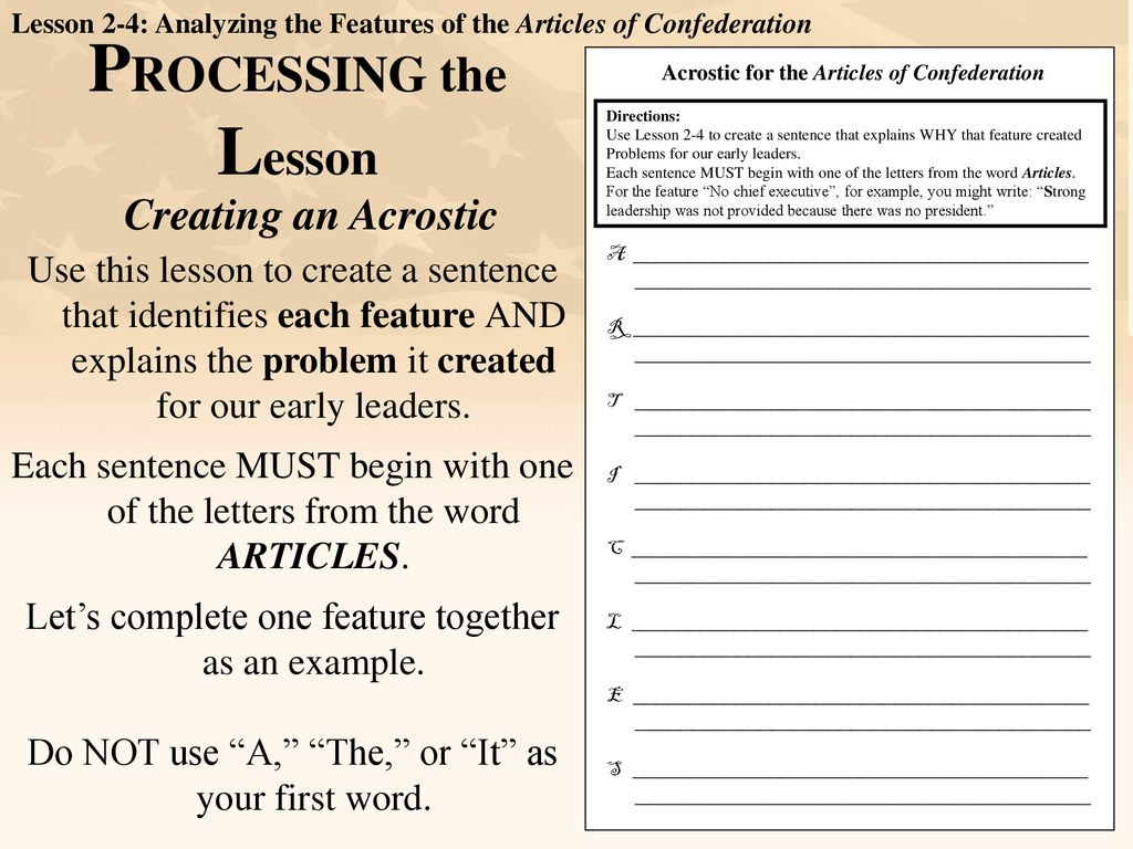 Articles Of Confederation Worksheet Answers