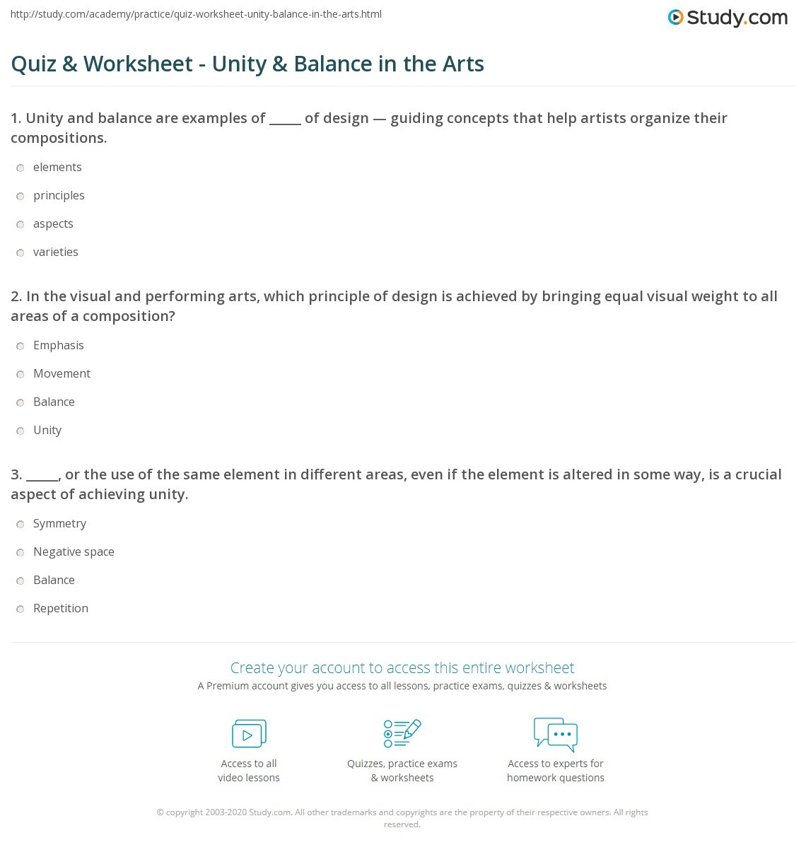 Balancing Act Worksheet Answer Key