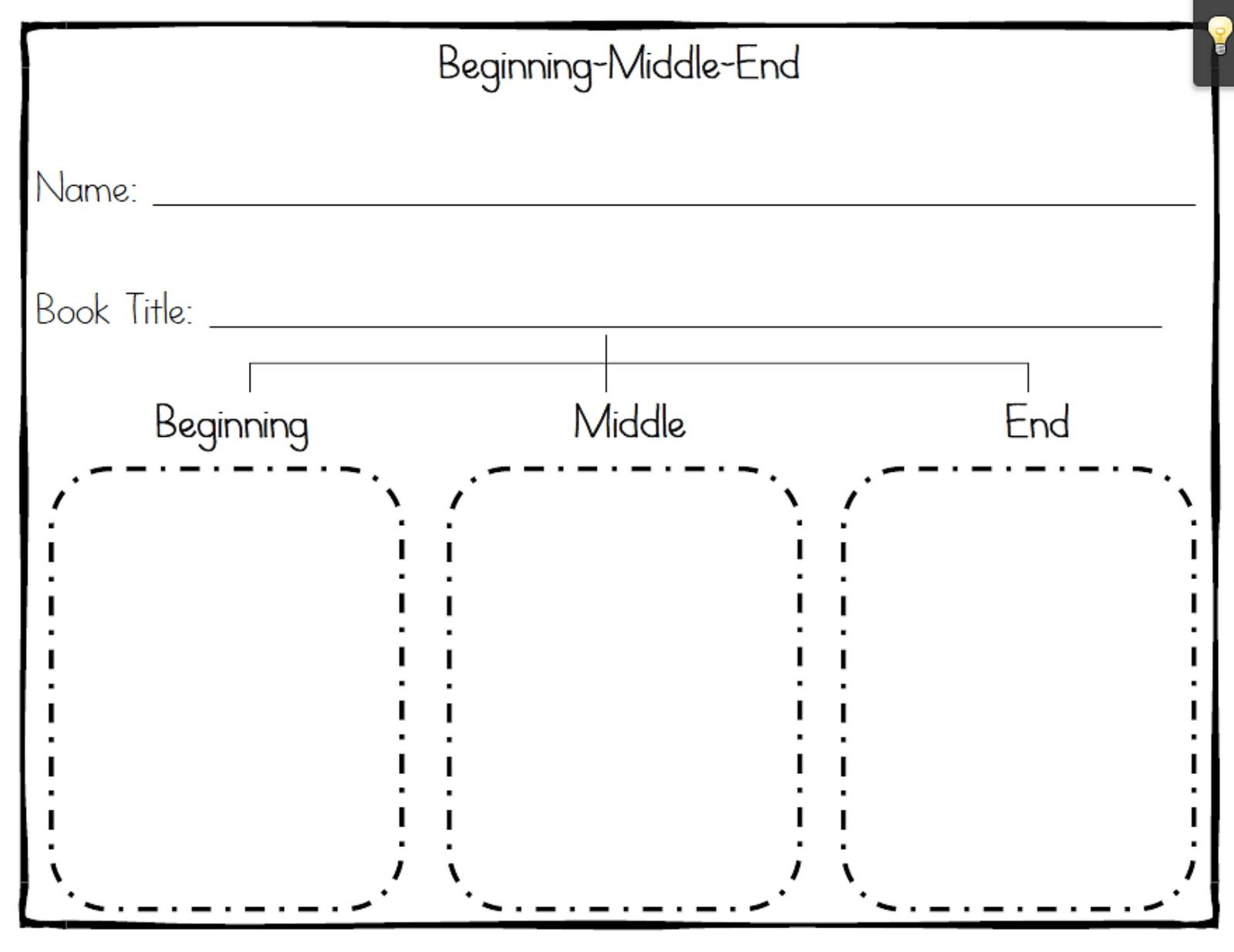 Beginning Middle End Worksheet