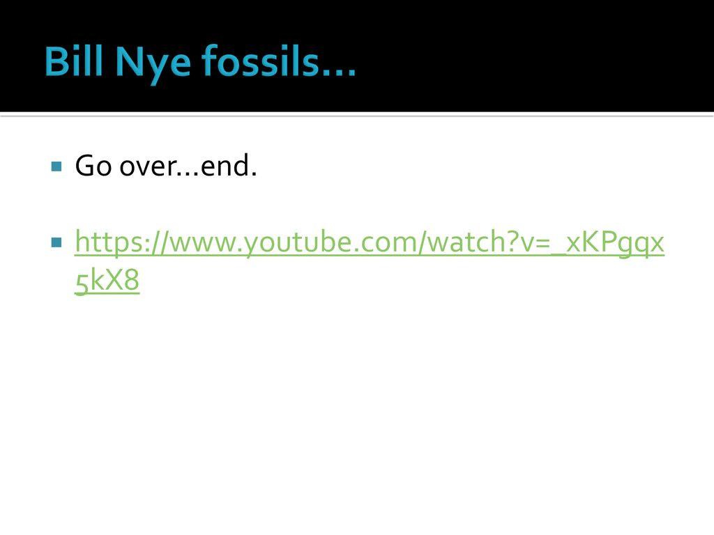Bill Nye Fossils Worksheet