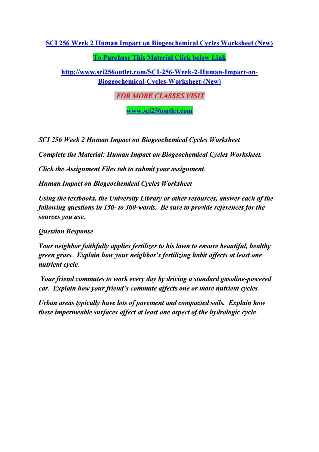 Biogeochemical Cycles Worksheet Answers