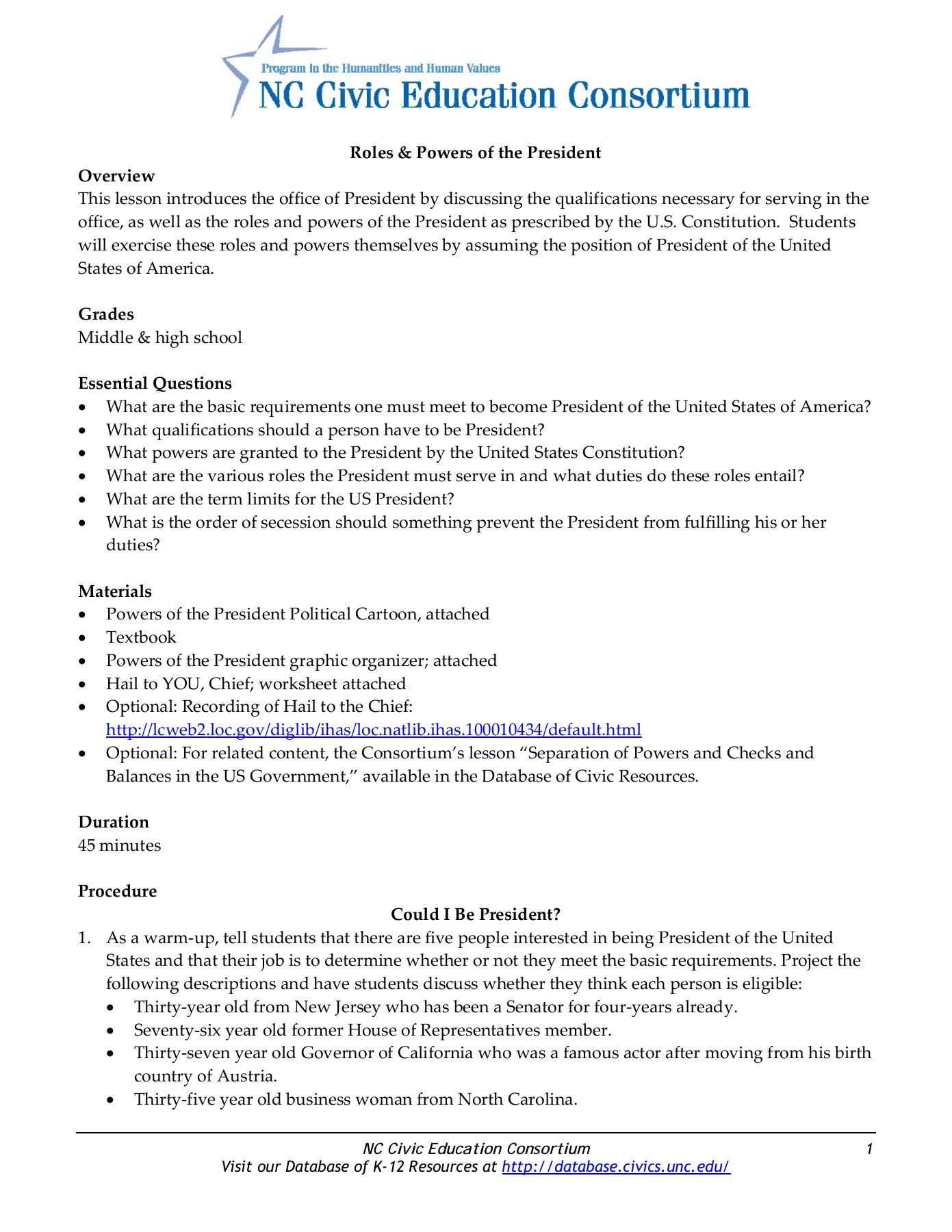 Checks and Balances Worksheet Answers