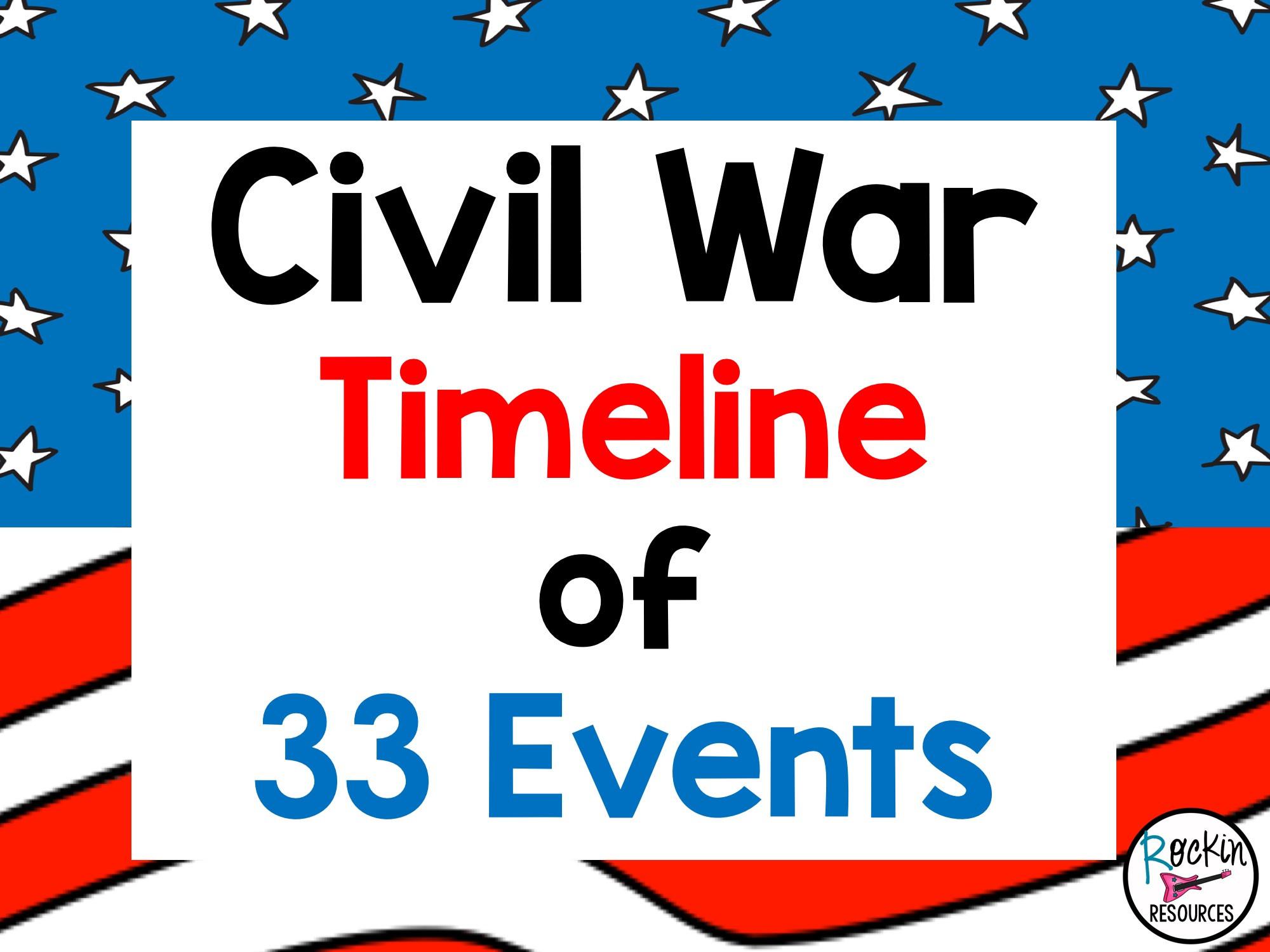 Civil War Timeline Worksheet