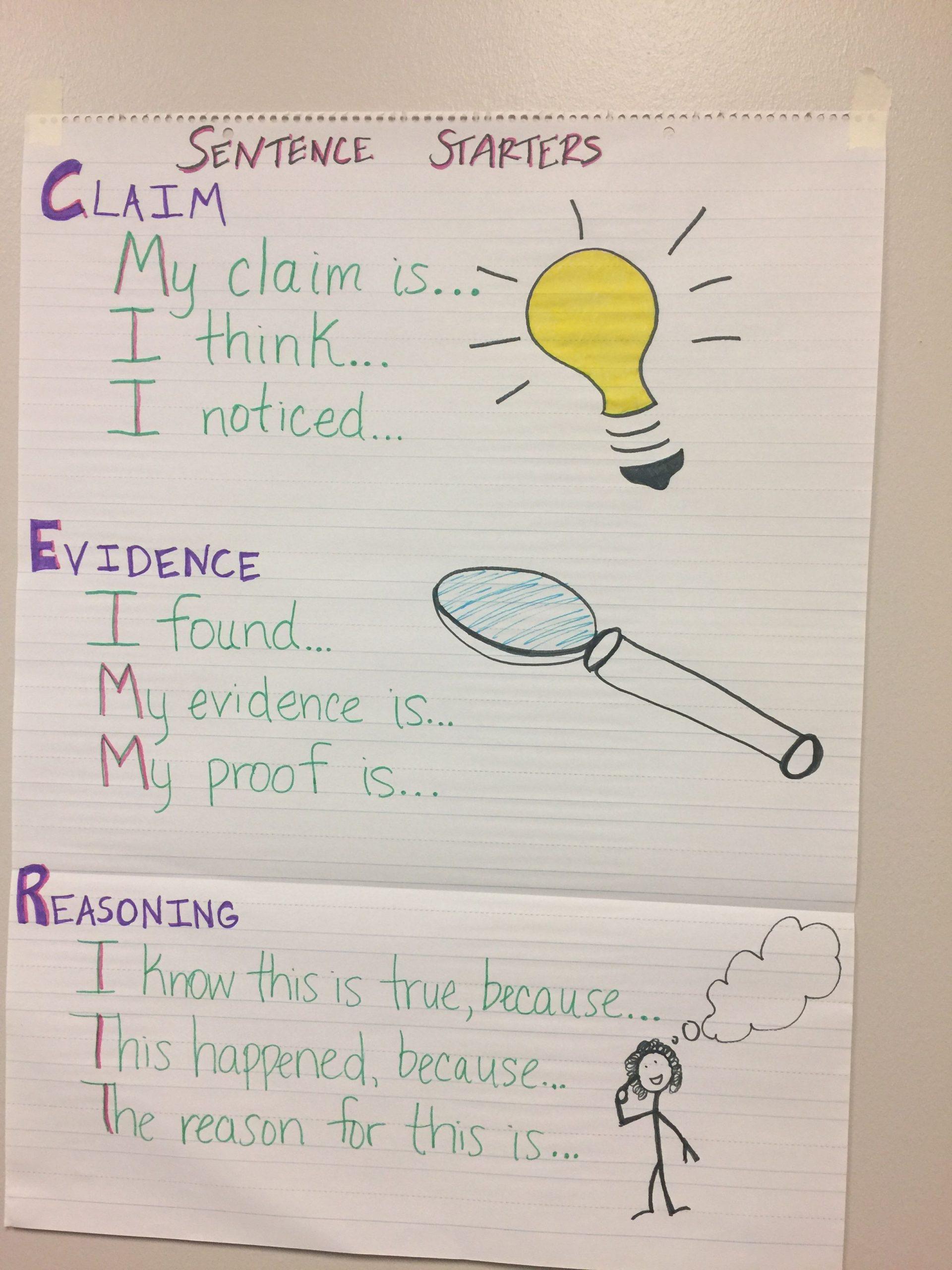Claim Evidence Reasoning Science Worksheet