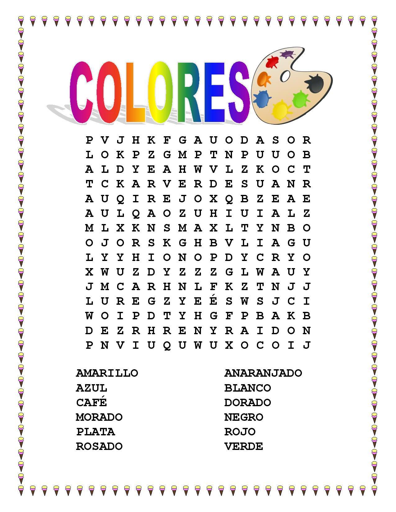 Colors In Spanish Worksheet