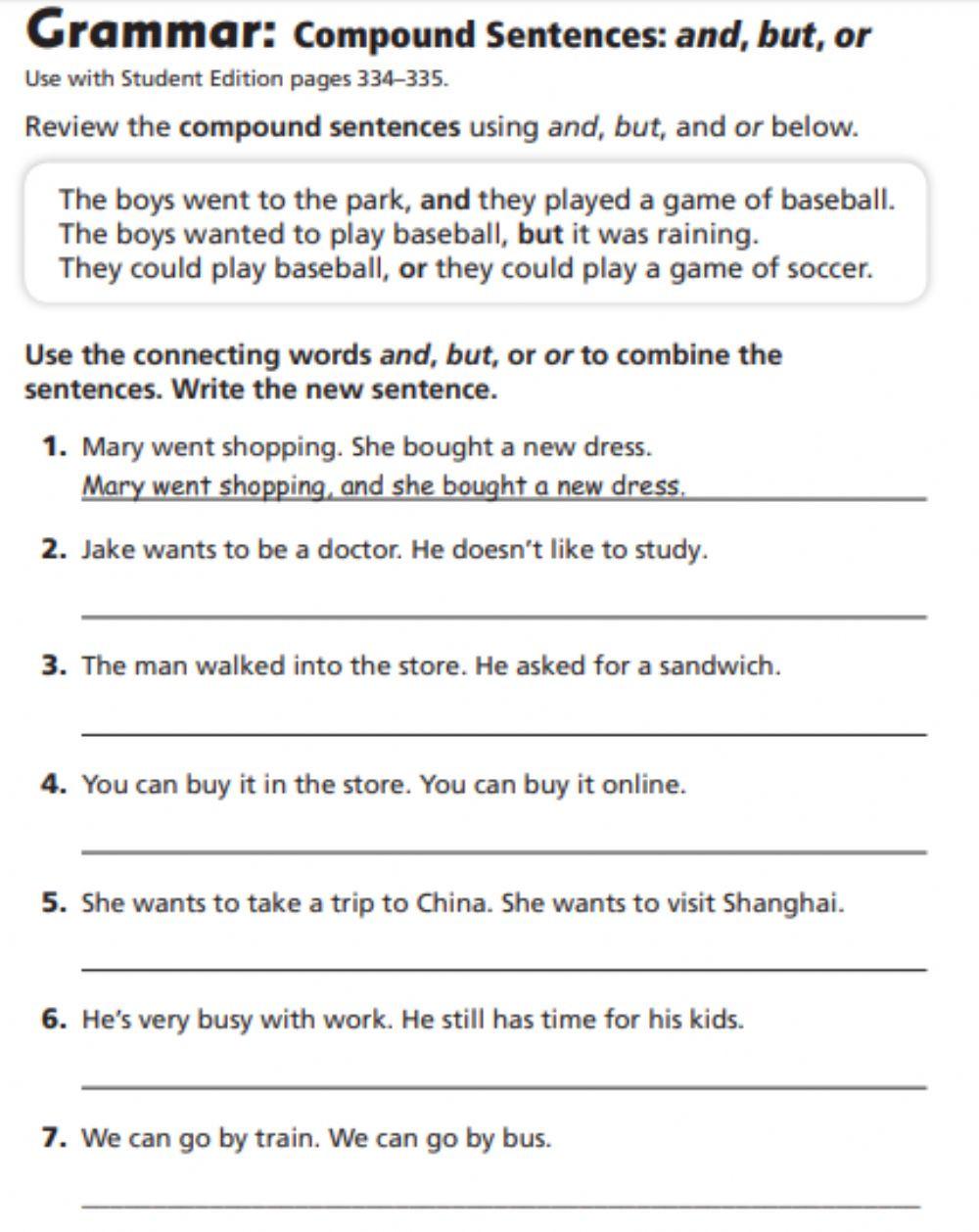pound Sentences Interactive worksheet