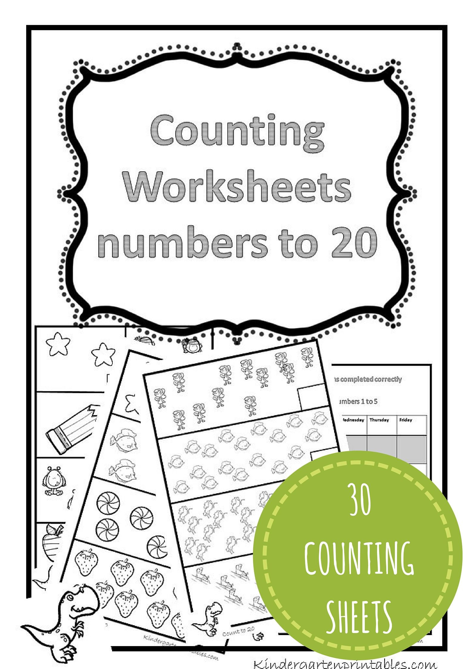 Counting to 20 Worksheet