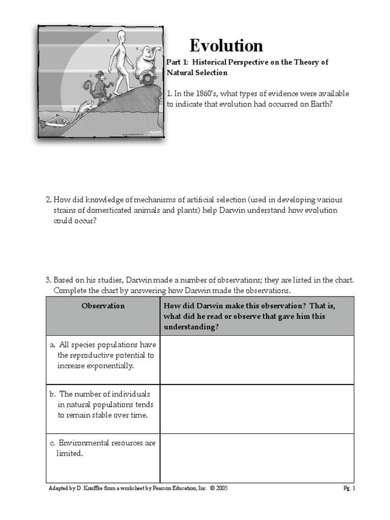 30 Darwin Natural Selection Worksheet | Education Template