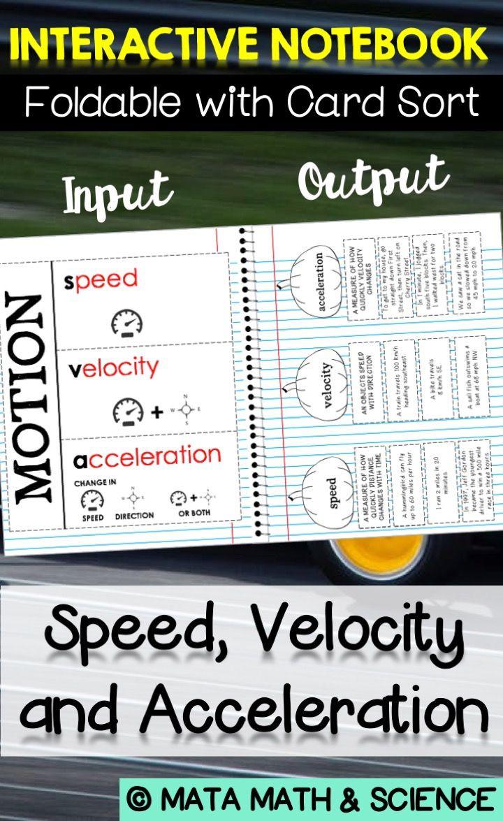 Determining Speed Velocity Worksheet