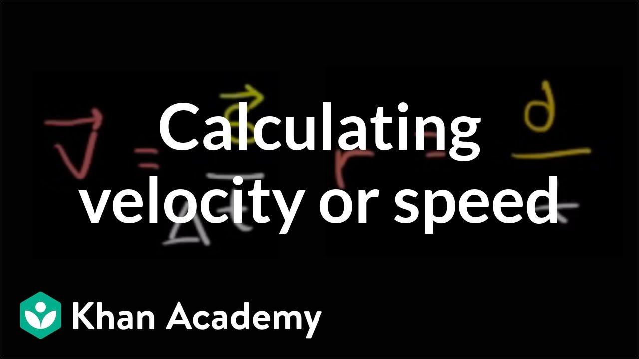 Determining Speed Velocity Worksheet Answers